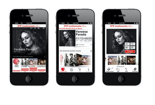 UI design Liveconcert app