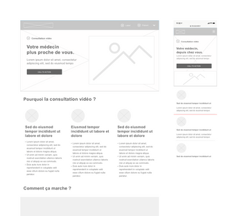 Wireframe landing page