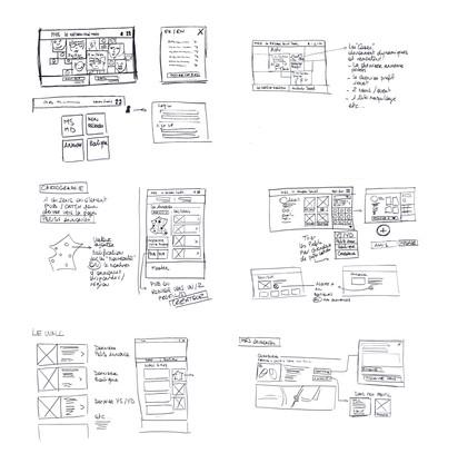 Sketches UX : proposition d'amélioration
