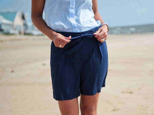 Foxy Mama Navy Blue Maternity Shorts