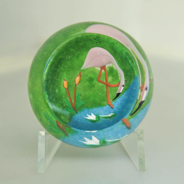 Perthshire Paperweight Flamingo