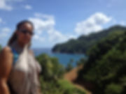 Blunt Force Drama LLC Producer Doreen Blunt on location in Dominica.