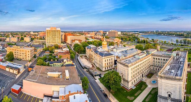 Aerial panorama of Trenton New Jersey sk