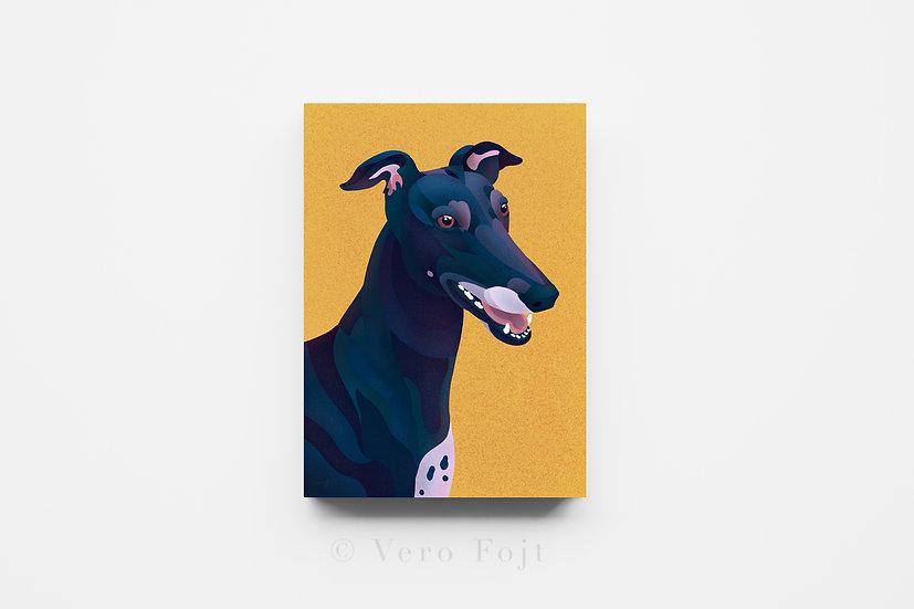 Yellow Greyhound Mosaic