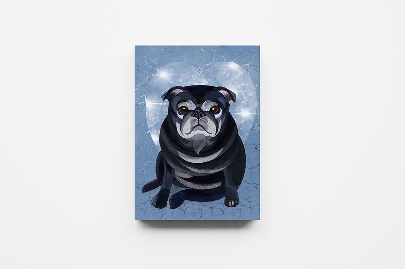 Ice Lola Pug Mosaic