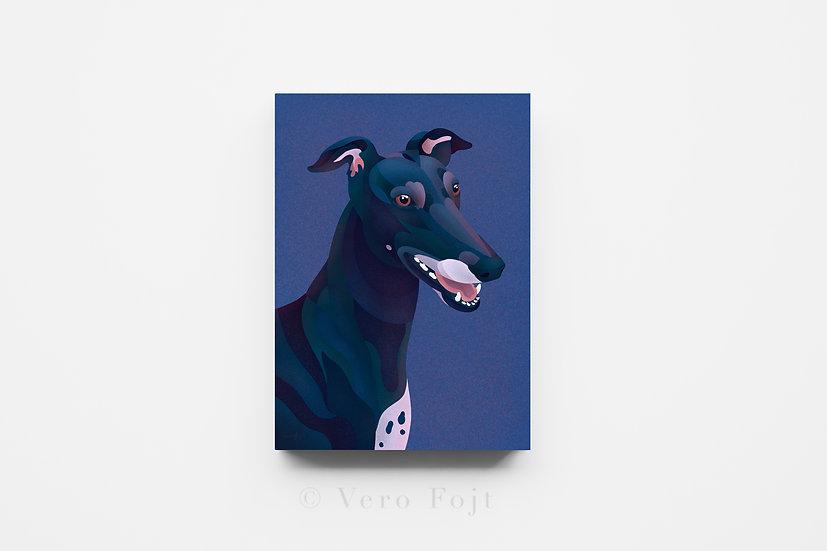 Purple Greyhound Mosaic