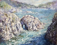 Point lobos California coast painting