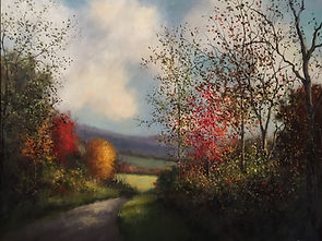 Fall valley road Tennessee painting