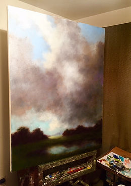 cloudburst atmospheric painting
