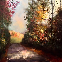 Sunlit Path painting