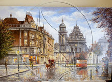 Lviv city painting