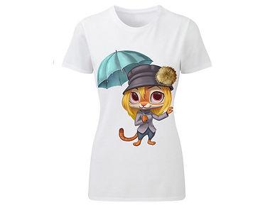 T-Shirt «Lady cat 01»