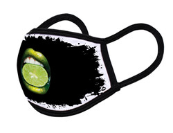 "Grange Black Face Mask ""Limon lips"""