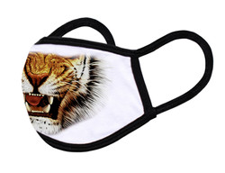 """White Face Mask """"Tiger mouth"""""""