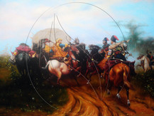 """Jozef Brandt """"Cossacks skirmish with the Swedes"""""""
