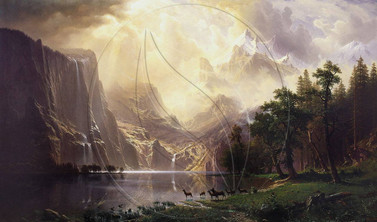 """Among the Sierra Nevada Mountains, California"" Copy Artwork of Albert Bierstadt"