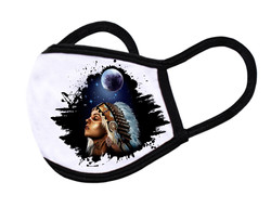 "White Face Mask ""Indian girl"""