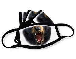 "White Face Mask ""Black bear mouth"""