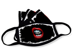 "Grange Black Face Mask ""Diamond lips"""
