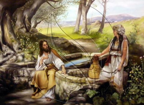 Christ and the Samaritan Woman painting copy