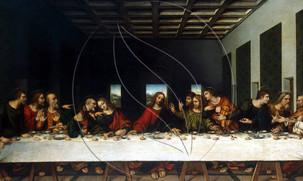 """Copy painting of Da Vinci """"Son Akşam Yemeği Tablosunun Sırları"""""""