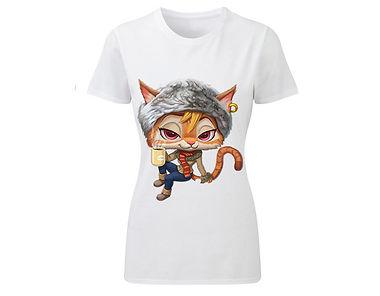 T-Shirt «Lady cat 04»