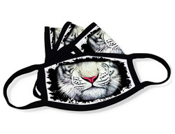 "Grange Black Face Mask ""White tiger mouth"""