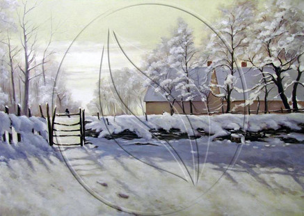 Christmas winter snow blizzard painting