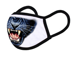 """White Face Mask """"Panther mouth"""""""
