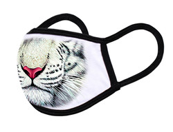 """White Face Mask """"White tiger mouth"""""""