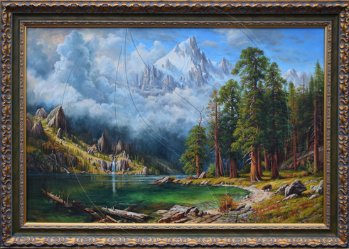"Albert Bierstadt ""Sierra Nevada"" ( artwork copy )"