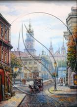 Lviv, Market Square painting