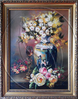 White flowers still life painting