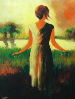 Girl in a Field of Green