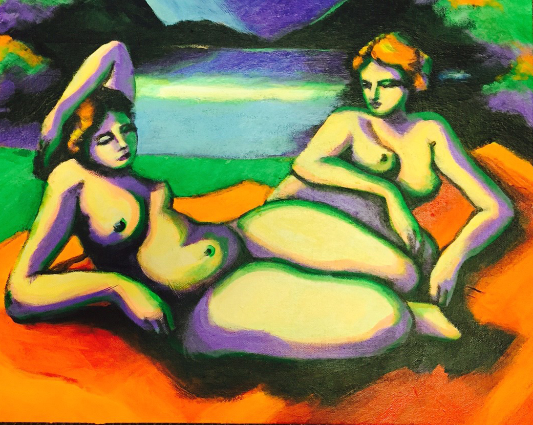 Nudes by the Lake / SOLD