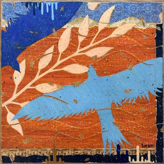 L'envol bleu 2 - 30X30