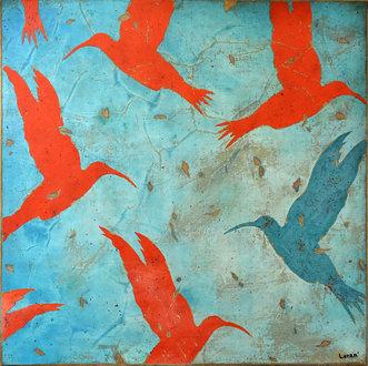 La ronde des colibris 2 - 50X50