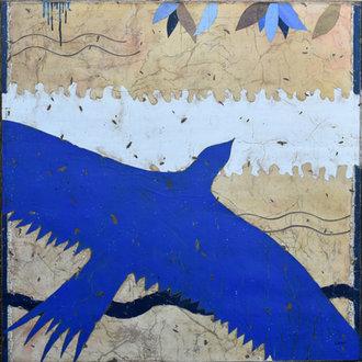 L'oiseau bleu - 100X100