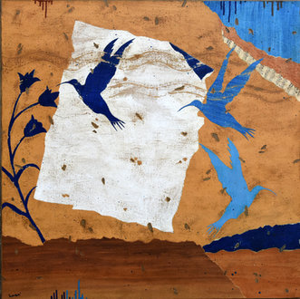 La danse des colibris - 80X80