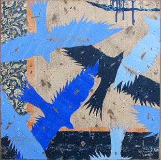 Fugam, blue - 40x40
