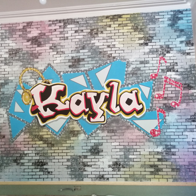 """Kayla"" Wall Mural / Corinne Muir Interiors / Designed by Meghan Grieve"