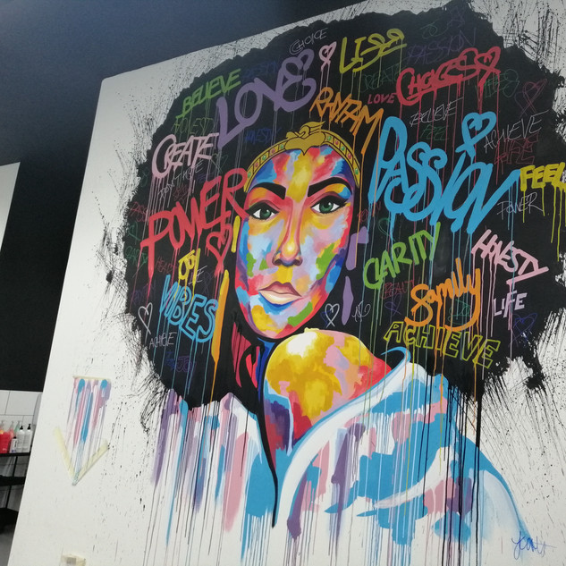 Painted Mural for House54 Livingston