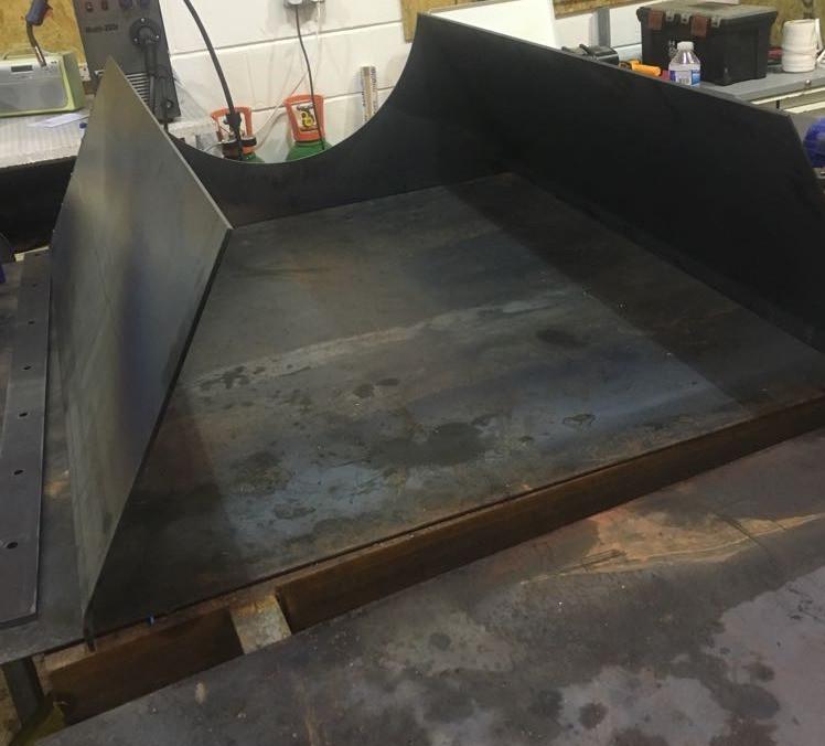 in-feed hopper in fabrication