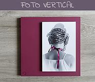 Cuadro artesanal con fotografía vertical
