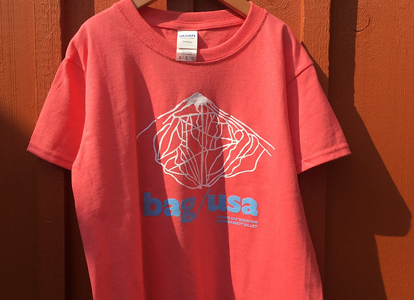 Youth Size Red Bag & Kettle Trail Logo T-Shirt