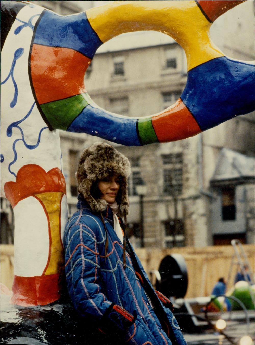 Niki de Saint Phalle with La fontaine Stravinsky.jpg  Niki de Saint Phalle with La fontaine Stravinsky. Photo: Leonardo Bezzola © Leonardo Bezzola Estate