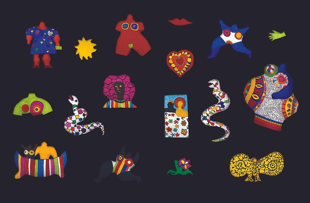 Niki de Saint Phalle. Last Night I Had a Dream. 1968–88. Painted polyester. Overall dimensions variable. Photo: Laurent Condominas. © 2021 Niki Charitable Art Foundation