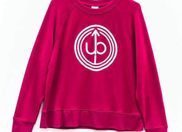 Pulse Ultra Soft Sweatshirt in Raspberry