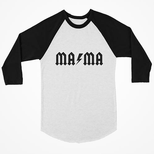 """Mama"" Lightening Bolt Band Baseball Tee"