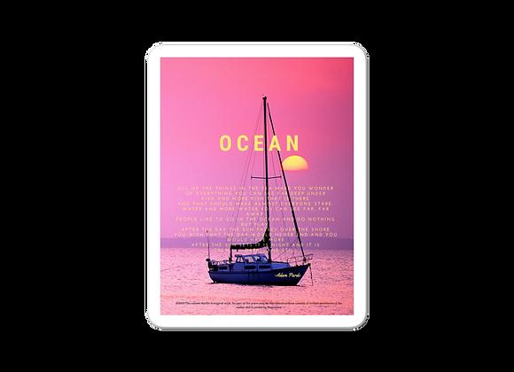 """""""Ocean"""" Bubble-free Sticker"""